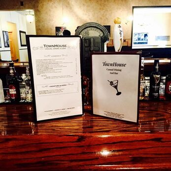 TownHouse Menus on the bar